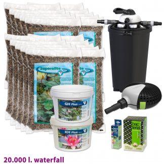 Vijverstartpakket waterval tot 20.000 liter van Velda